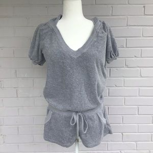 Juicy Couture terry hooded romper